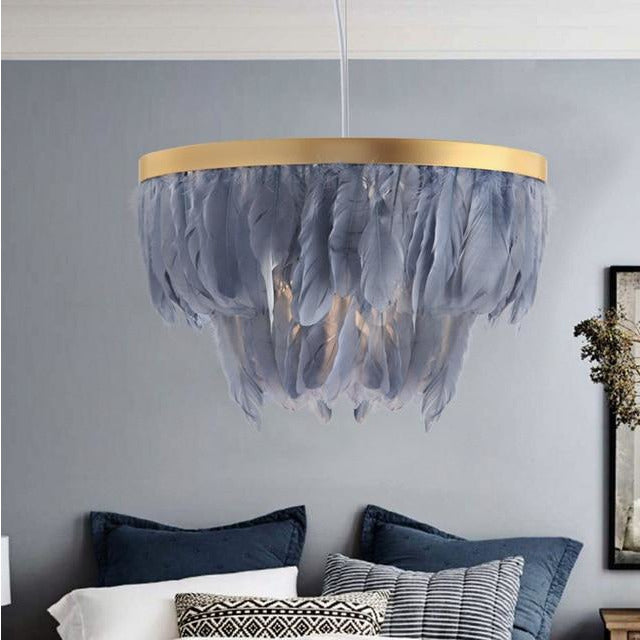 Nordic Feather Chandelier - Indoor Therapy