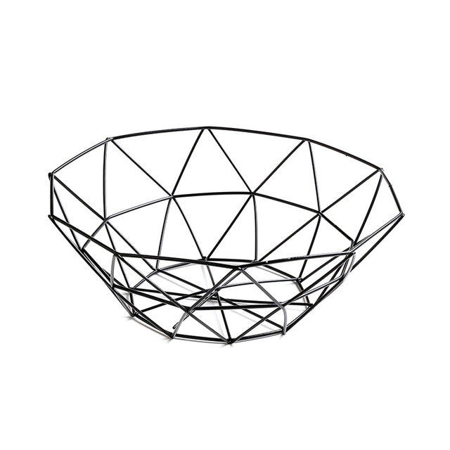 Geometric Wire Fruit Basket - Indoor Therapy
