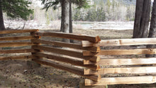 Load image into Gallery viewer, Pure Country Split Rail Cedar Fencing
