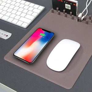 Wireless Charging Mouse Pad Organiser