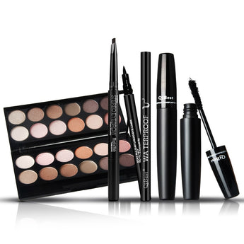 4pcs Makeup Set Box Maquillaje Profesional Eyeshadow Palette Eyebrow Pen