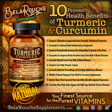 Load image into Gallery viewer, Turmeric Complex with BioPerine | 95% Curcuminoids | 120 Capsules | BelaRouche Supplements