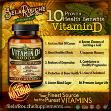 Load image into Gallery viewer, Vitamin D | 100% Pure | Vitamin D3 5000 IU | Sunshine Vitamin | All Natural | BelaRouche Supplements