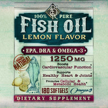 Load image into Gallery viewer, Lemon Flavor Fish Oil 1250mg | 6-Month Supply | EPA, DHA, OMEGA-3 | Heart Health | BelaRouche Supplements