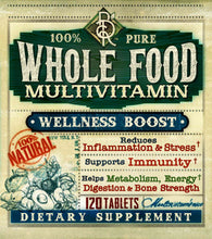 Load image into Gallery viewer, Whole Food MultiVitamin | Wellness Booster | 120 Tablets | Vegetarian | BelaRouche Supplements
