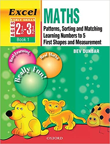 Excel Math Pattern,Sortingand Matching Learning Numbers To First Shape And Measurement