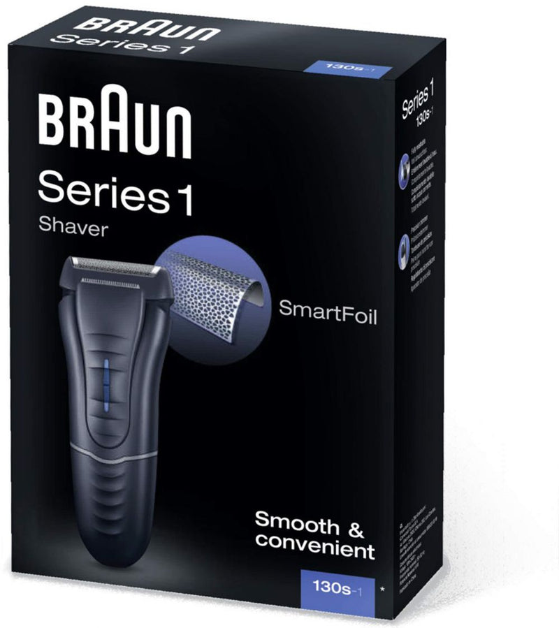 Braun Series 1 130s Electric Foil Shaver, Corded, Fully Washable