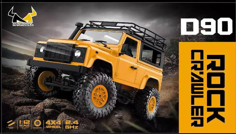 MN-90 RC Crawler Car 2.4G 4WD Remote Control Big Foot Off-road Crawler Military Vehicle Model RTR Remote Control Truck Toys