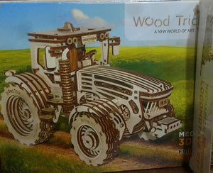 Mechanical 3-D tractor puzzle.