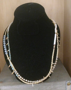 Necklace - Boho Beaded Wrap