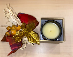 Lux Candle with Decorated Box - Apple Jack