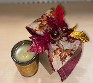 Lux Candle with Decorated Box - Harvest Moon