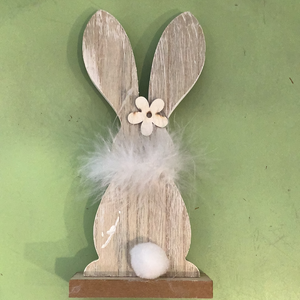 Wooden fluffy bunnies
