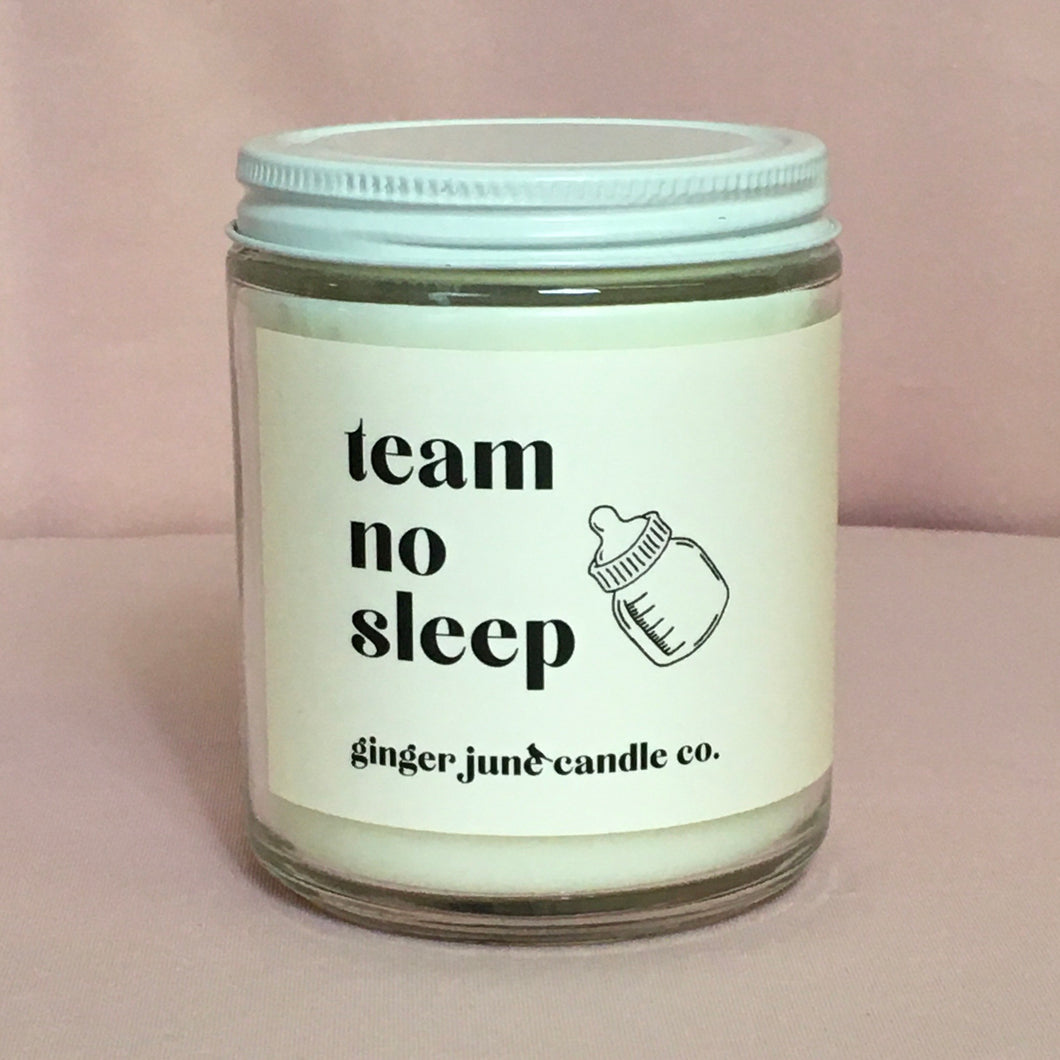 Team No Sleep soy candle