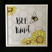Load image into Gallery viewer, Bee Happy Wooden Plaque