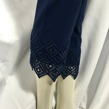 Load image into Gallery viewer, Navy Pant with Lace Cuff