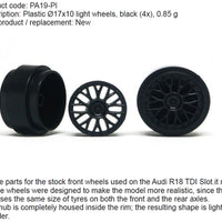 SIPA19-Pl Slot.It 17.3 x 10mm Plastic Wheels
