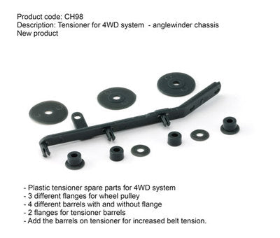 SICH98 Slot.It 4WD Tension Bar Kit for AW