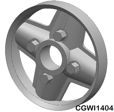 CGWI1404 CG Slotcars Revolution Wheel Inserts, 14mm