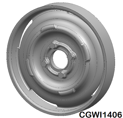 CGWI1406 CG Slotcars Steel 4-Bolt Wheel Inserts, 14mm