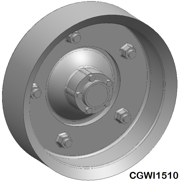 CGWI1510 CG Slotcars Wide-5 5-Bolt Wheel Inserts, 15mm