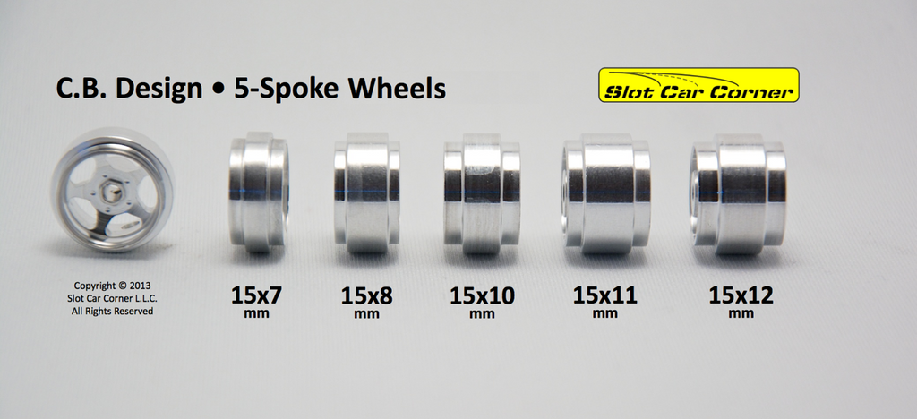 CBD0115 CB Design 5-Spoke Classic 15 x 7mm Aluminum Wheels