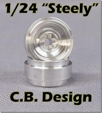 CBD0692 CB Design 1:24 Classic Steel Wheels 1/8'' Axle, Center Rib