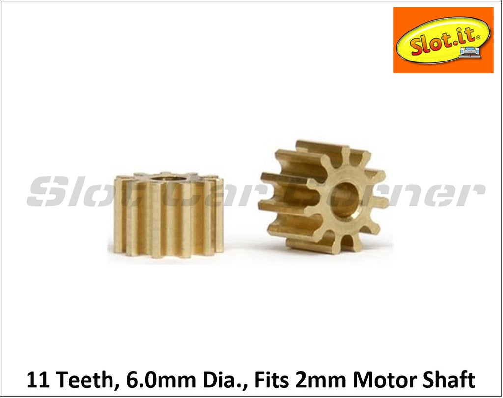 SIPI6011o Slot.It 11T 6.0mm SW/AW Pinion Gear (Brass)