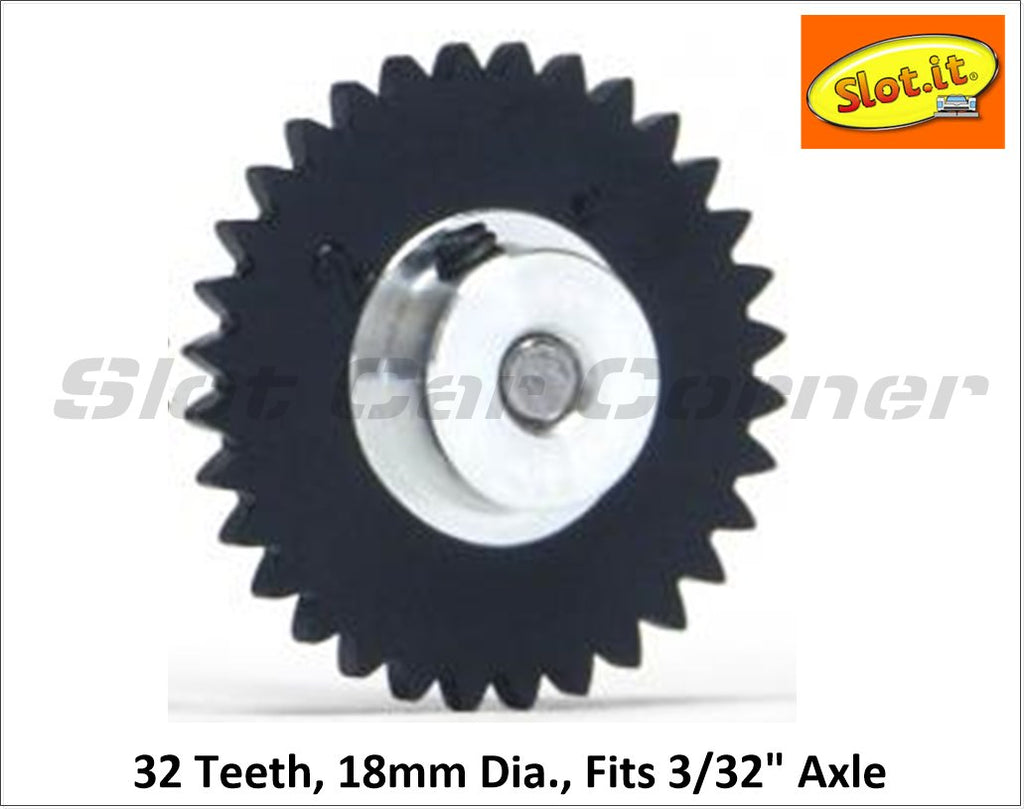 SIGS1832-Pl Slot.It 18mm Plastic Sidewinder Spur Gear, 32T