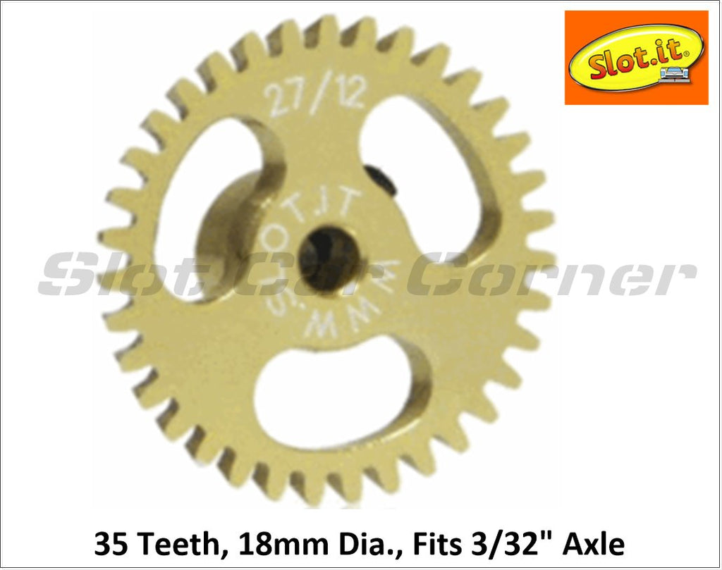 SIGA1835e Slot.It 16mm Ergal Anglewinder Gear, 35T
