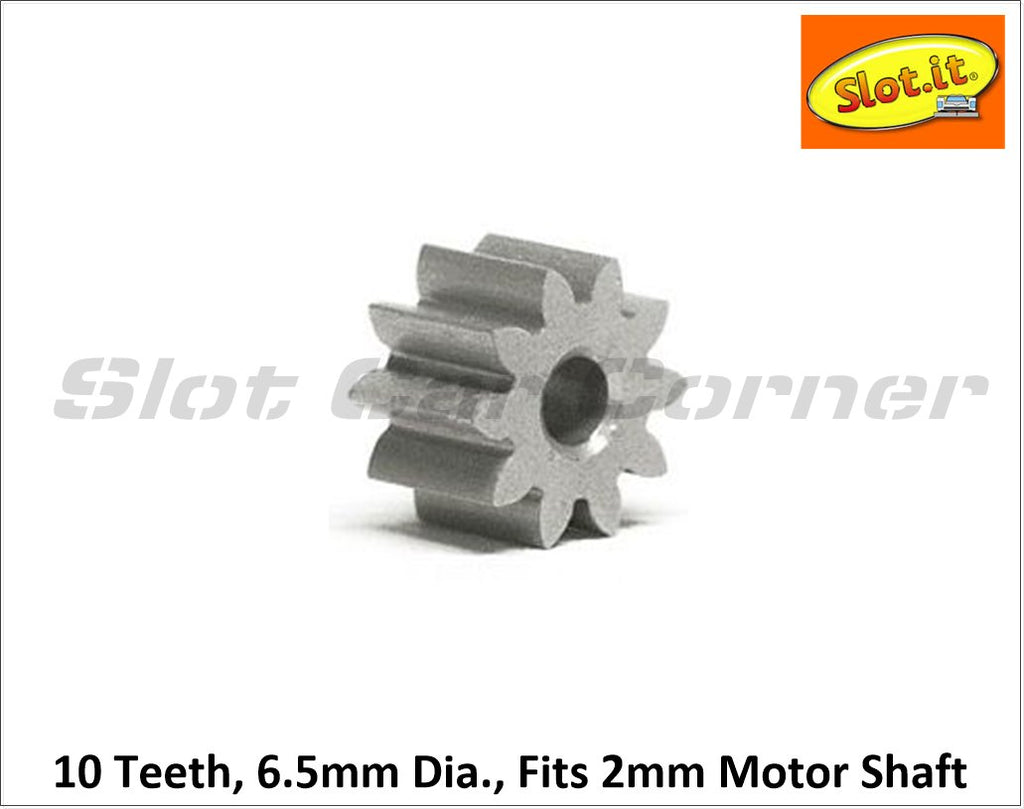 SIPI6510E Slot.It 10T 6.5mm Ergal SW/AW Pinion Gear