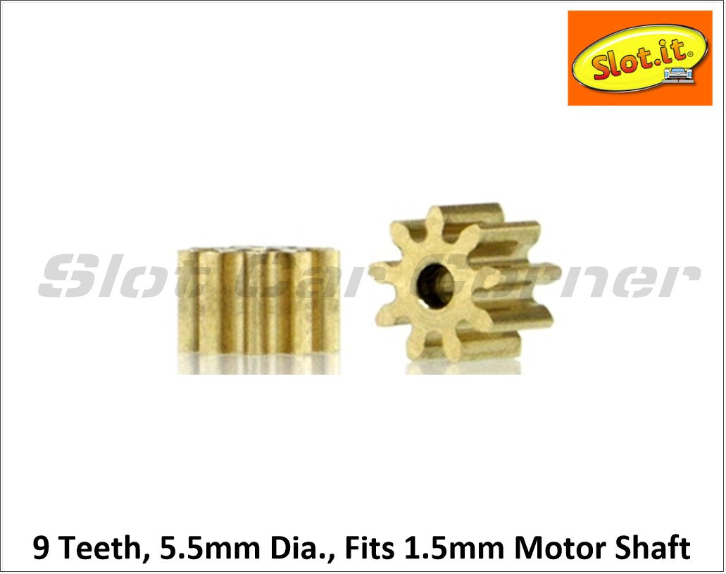 Sipi559o15 Slot It Pinion Gear  9t  5 5mm  Inline  Brass