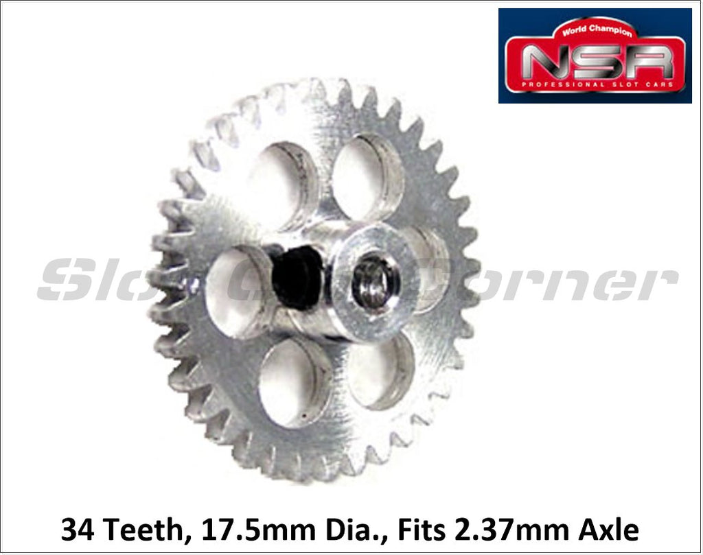 NSR6034 NSR 17.5mm Extra Light Sidewinder Gear, 34T