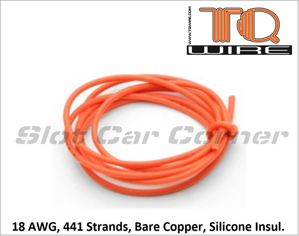 TQR100 TQ 18 AWG Orange Motor Lead Wire (10')
