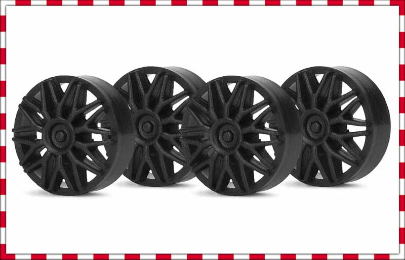 SIPA03B Slot.It Wheel Inserts, 15mm BBS Style, Black