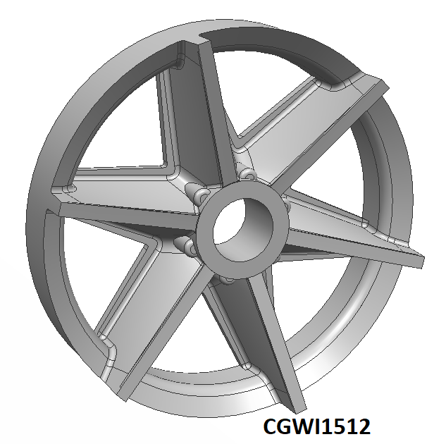CGWI1512 CG Slotcars Gurney Eagle Wheel Inserts, 15mm