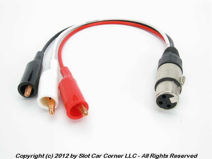 SCC Controller Adapter, XLR (Male) to Alligator Clips