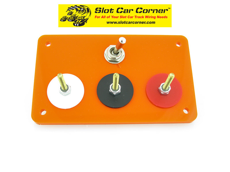 SCC 3-Post (Alligator Clip) Driver Station With Lane Reverse Switch Kit, Orange