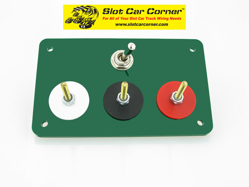SCC 3-Post (Alligator Clip) Driver Station With Lane Reverse Switch Kit, Green