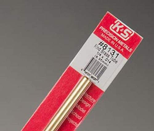 "KS8131 K&S Metals Round Brass Tube, 1/4"" x 12"""