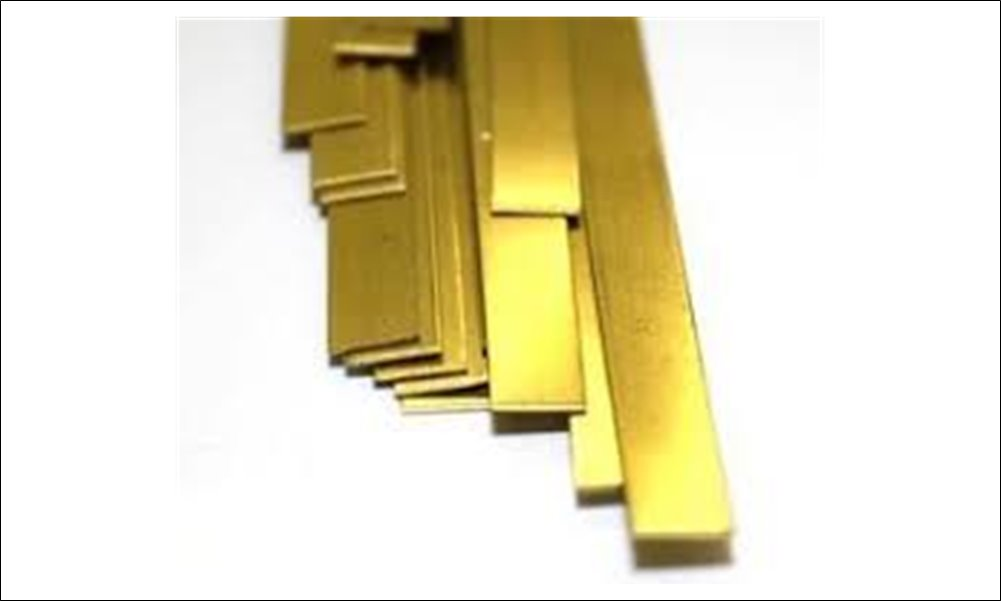 "Brass Strip, .025"" x 1/2"""