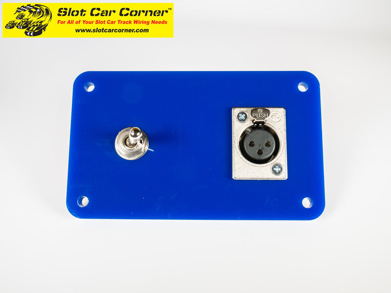 SCC XLR + Lane Reverse Switch Driver Station Kit, Blue