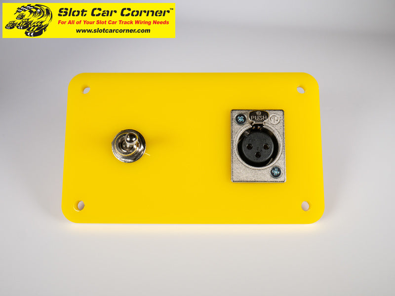 SCC XLR + Lane Reverse Switch Driver Station Kit, Yellow