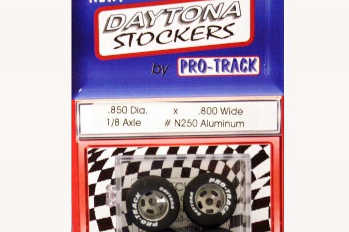 PTMN250A Pro-Track 1/8 x .850 x .800 Natural Rubber Rear Tires