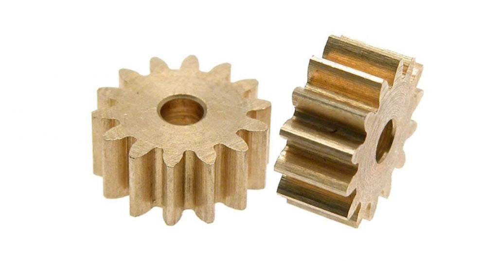 SC-1197 Scaleauto 14T Brass Pinion for 2mm OD Motor Shaft