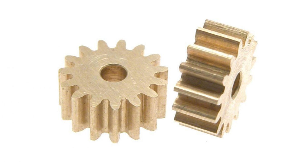 SC-1198 Scaleauto 15T Brass Pinion for 2mm OD Motor Shaft
