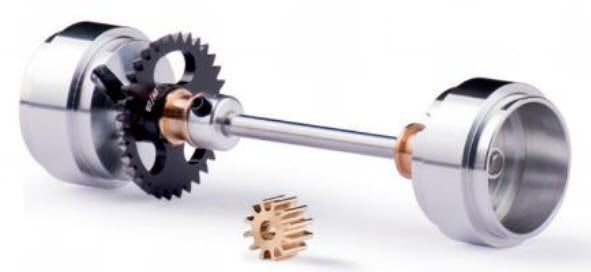 SIKK09C Slot.It Axle Assembly, Large Hubs, Anglewinder