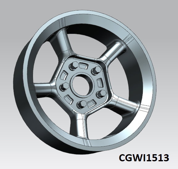 CGWI1513 CG Slotcars Sterling Spoke '76 Wheel Inserts, 15mm