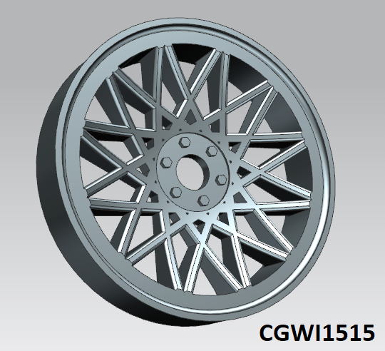 CGWI1515 CG Slotcars Chaparral Wheel Inserts, 15mm