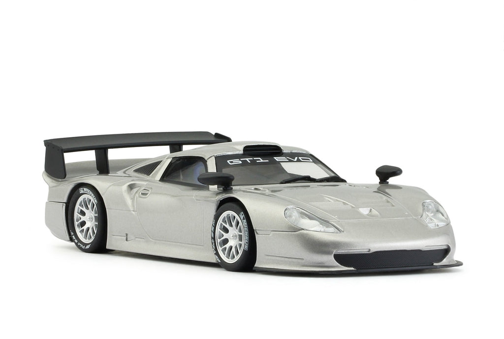 MR1025AS MRSLOTCAR Porsche 911 GT1 EVO, Silver
